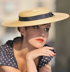 The Lady London Hat Chapeau de Paille Straw by AndTheyLovedHats