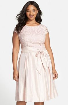 Adrianna Papell Embroidered Bodice Cap Sleeve Fit & Flare Party Dress (Plus Size) Plus Size Cocktail Dresses, Plus Size Party Dresses, Dress Plus Size, Trendy Dresses, Stylish Outfits, Plus Size Outfits, Stylish Clothes, Plus Size Fashion For Women, Plus Size Women