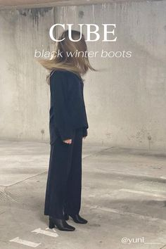 Our new season Cube Boots are hand-crafted in Italy with supple Italian leather and refined, thoughtful details throughout. Designed to a sculptural and slimline silhouette, they feature a distinctly square toe and curved block-heel, finished with our signature gold zip at the back ankle. Team them with midline skirts or cropped trousers for a directional look. Discover the Fall Winter collection form Dear Frances! Black Winter Boots, Black Ankle Boots, Comfortable Ankle Boots, Cropped Trousers, Slow Fashion, Winter Collection, Italian Leather, Hand Stitching, Block Heels