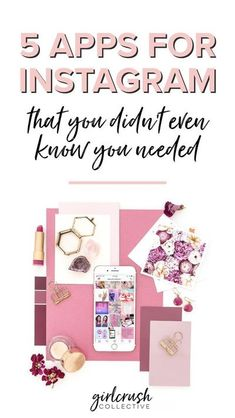 5 Apps for Instagram That You Didn't Even Know You Needed. Use these apps to grow your Instagram account. Best apps for Instagram via Girlcrush Collective Blog #instagram #socialmedia