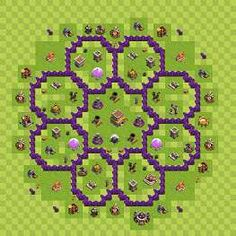 Hybrid war base th 8 more clans bases clash of clans base th8 coc
