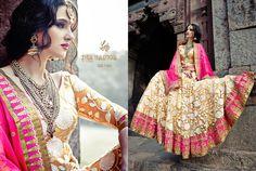 The Princess Elegance Bridal Lehenga & Saree Collection! Bollywood Bridal, Bollywood Lehenga, Lehenga Saree, Anarkali Dress, Sari, Dress Indian Style, Indian Dresses, Indian Wear, Pink Bridal Lehenga