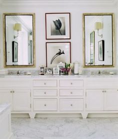 Charles Fradin design:  like the furniture-like cabinets off the floor