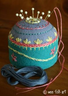 Tuna Can Pincushions | Wee Folk Art
