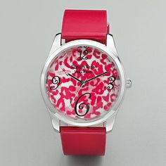 Kohl's Cares® Simply Vera Vera Wang Silver Tone Leopard Watch