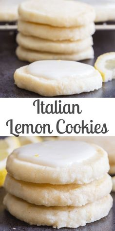 Perfect melt in your mouth Lemon Cookies If you love anything lemon then you are going to love these cookies Light and easy to make with a tasty lemon glaze they are sure to satisfy any lemon lover lemoncookies cookies shortbreadcookies Italiancookies Easy Cookie Recipes, Sweet Recipes, Italian Cookie Recipes, Recipes With Lemon, Italian Desserts, Cookie Ideas, Lemon Recipes Baking, Easy Recipes For Desserts, Italian Christmas Cookie Recipes