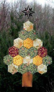 The Inchy Hexagon Flower Swap: Hexagon Christmas Tree