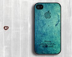 Case for black iphone 4 case iphone 4s case iphone 4 cover illustrator classic green metal Iphone Logo design printing on Wanelo