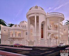 """شركة الديوان للتصاميم الهندسية on Instagram: """"فيلا #جميرا في دولة الامارات . #دبي  المهندس المعماري سامر ديوان  مساحة البناء 900 متر مربع  مع ملحق مطبخ + سكن للخدم  لطلب التصاميم واتس…"""" Mansions, House Styles, Home Decor, Decoration Home, Manor Houses, Room Decor, Villas, Mansion, Home Interior Design"""