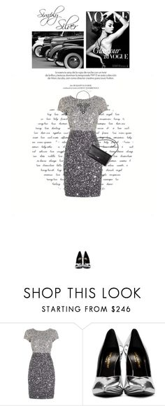 """""""Simply Silver"""" by gailermels ❤ liked on Polyvore featuring Columbia, Louis Vuitton, Adrianna Papell, Loeffler Randall, Yves Saint Laurent and Simply Vera"""