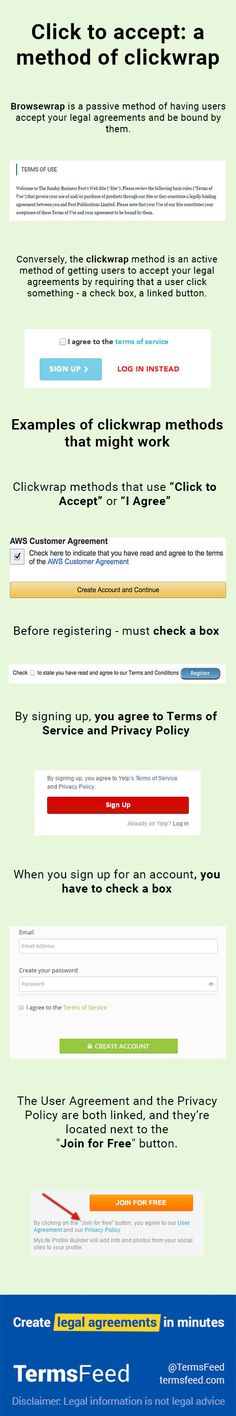 See Examples Of Clickwrap I Agree To Checkboxes In Use For Tips On