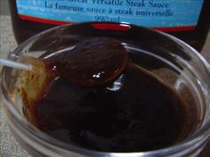 """Hp Sauce: This is a clone for the famous English """"Houses of Parliament"""" steak sauce & a must have recipe for all. Uk Recipes, Canning Recipes, Copycat Recipes, Sauce Recipes, British Recipes, English Brown Sauce Recipe, Hp Brown Sauce Recipe, Sauces, Dressings"""