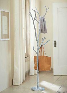 14e43c63e25 Recycled Metal Branch Coat Tree - VivaTerra Towel rack for master bath