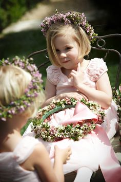 flower girls need wreaths on their heads