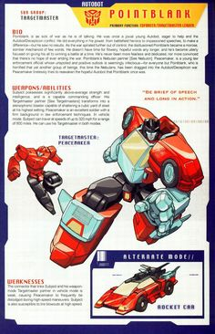 Transformers Universe - Gallery: G1 Pointblank