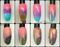 Make an original manicure for Valentine's Day - My Nails Gel Nail Art, Nail Art Diy, Easy Nail Art, Diy Nails, Cute Nails, Diy Art, Diy Nail Designs, Simple Nail Designs, Gel Polish Designs