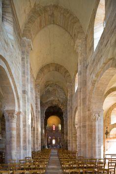 Nave,Église Notre-Dame-de-la-Nativité, Bois-Sainte-Marie (Saône-et-Loire)  Photo by Dennis Aubrey