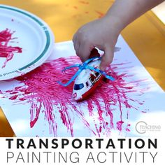 Preschool Transportation Sorting and Painting Activity