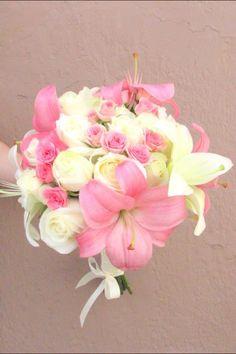 Bouquet rosa y blanco