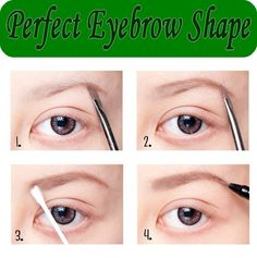 Perfect Eyebrow Shape...eyebrows are so important in defining the eye and the face (a good eyebrow can make you look good with minimal makeup)