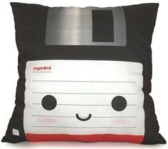 Retro-Geek Floppy Disk Throw Pillow