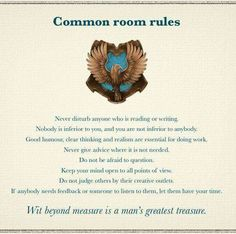Ravenclaw Common Room Rules