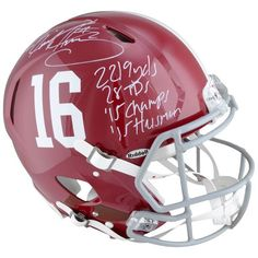 Derrick Henry Alabama Crimson Tide Fanatics Authentic Autographed Riddell Pro-Line Helmet with Multiple Inscriptions - Limited Edition of 24 - $749.99