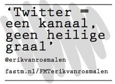 Twitter volgens @erikvanrosmalen