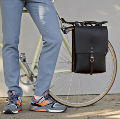Our most adaptable 'Alfie Six' utility range converts from a shoulder bag - backpack - briefcase to a pannier bag for your bike