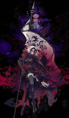 Fate Zero Kiritsugu, Joan Of Arc Fate, Manga Anime, Anime Art, Fate/stay Night, Fate Stay Night Series, Jeanne Alter, Kamigami No Asobi, Fate Servants