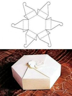 Perfect shape for wedding favours box template