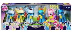 My little pony exclusive Wonderbolts 6 figure gift set including derpy hooves My Little Pony Dolls, All My Little Pony, My Little Pony Friendship, My Little Pony Birthday Party, Pony Party, Baby Girl Toys, Toys For Girls, My Little Pony Poster, My Little Pony Merchandise