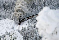 how pretty! -Brocken Mountain Railway, Germany