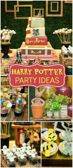 Any Harry Potter fan will not want to miss this spectacular party!- Any Harry Potter fan will not want to miss this spectacular party! See more part… Any Harry Potter fan will not want to miss this… - Baby Harry Potter, Natal Do Harry Potter, Harry Potter Enfants, Harry Potter Motto Party, Objet Harry Potter, Gateau Harry Potter, Harry Potter Fiesta, Harry Potter Thema, Cumpleaños Harry Potter