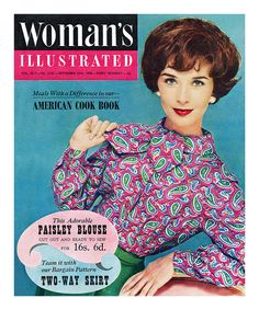 Woman's Illustrated cover, September 1958. #vintage #1950s #fashion #paisley