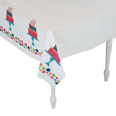 Birthday Cake Stand Tablecloth - OrientalTrading.com