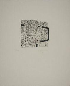 Eduardo Chillida (1924-2002), La Indetenible Quietud (number not known), 1998. Etching with collage. 43.5cm H x 35.5cm W.