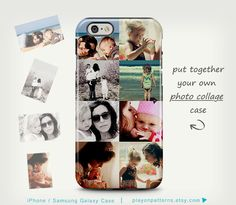Personalized Photo Collage iPhone Case | playonpatterns on Etsy https://www.etsy.com/listing/231351758/photo-case-iphone-6-case-photo-collage