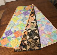 Timeless Treasures Tonga Treat Lunch Date Table Runner - None