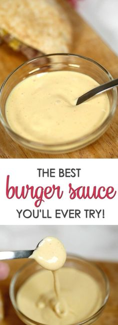This is the BEST burger sauce recipe you'll ever try! It goes great on burgers, fries and more (Try Girl)