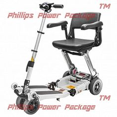 Free Rider USA  Luggie Elite  Compact Lightweight Foldable Scooter  4Wheel  Ivory  PHILLIPS POWER PACKAGE TM  TO 500 VALUE * This is an Amazon Associate's Pin. Clicking on the VISIT button will lead you to find the item on Amazon website.