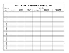 Free Excel Attendance Record Attendance Sheet It Is Easy To Keep