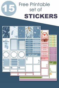 Free Printable Decorative Stickers To Use In Your Planner All Year Long | The Printable Collection Free Printable Stickers, Printable Planner, Planner Stickers, Free Printables, Watercolor Images, Planner Decorating, Happy Planner, Decorative Stickers, Reading