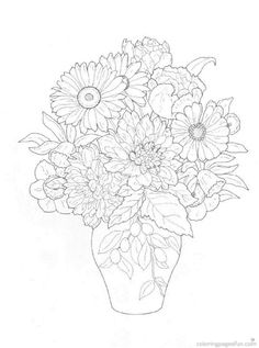 Flower Bouquets Coloring Pages 22