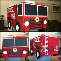 how to make a fire truck from cardboard boxes - Google Search