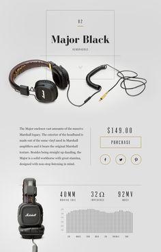 Marshall Major Black Headphones Design Concept by Samuel Thibault