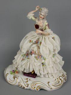 Porcelain Of China Info: 4225736081 Porcelain Jewelry, Porcelain Vase, Fine Porcelain, Victorian Dolls, Antique Dolls, Vintage Dolls, Dresden Dolls, Dresden China, Dresden Porcelain