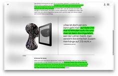 Interactive online dossier. © Nahuel Gerth, NGVK