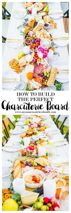 How to build the perfect Charcuterie Board for any party or wedding!  So beautiful!  |  mynameissnickerdoodle.com
