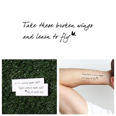Blackbird - Temporary Tattoo (Set of 2)
